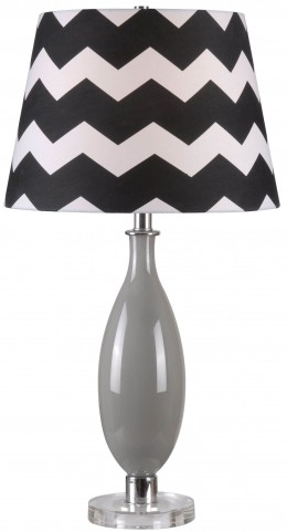 Horizon Gray Glass Table Lamp