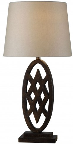 Signet Golden Flecked Bronze Table Lamp
