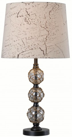 Mariner Clear Glass Table Lamp