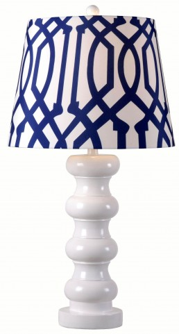 Bolster Gloss White Table Lamp