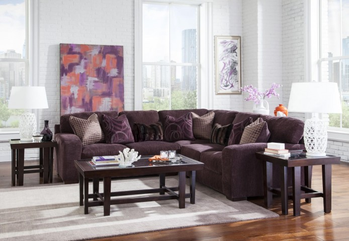 Serena Plum Sectional