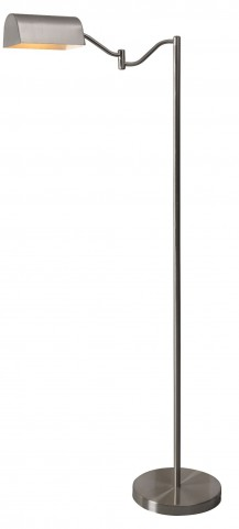 Wellesley Brushed Steel Floor Lamp