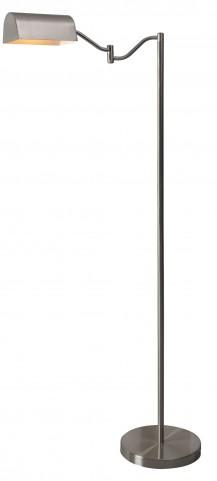 Wellesley Brushed Steel Floor Lamp