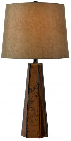 Reflection Antique Copper Glass Table Lamp