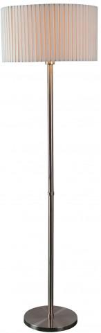 Grace Brushed Steel Floor Lamp
