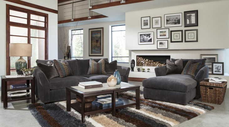 Brighton Graphite Living Room Set