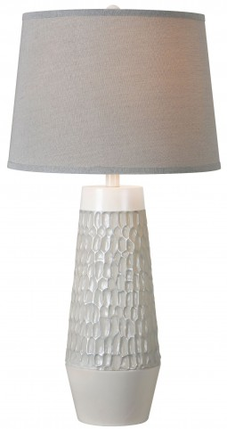 Vienna Silver White Table Lamp