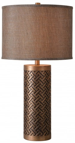 Gravure Gold Table Lamp