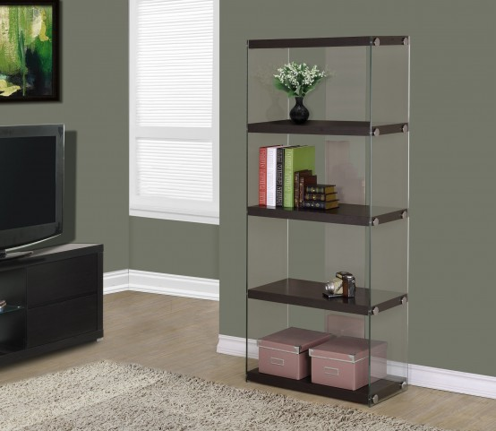 "3283 Cappuccino Hollow-Core 60"" Bookcase"