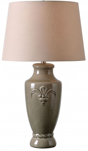 Crackle Taupe Table Lamp