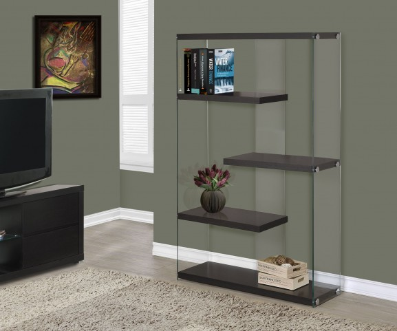 """3284 Cappuccino Hollow-Core 60"""" Bookcase"""