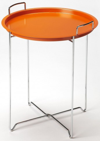 Midtown Orange Tray Table
