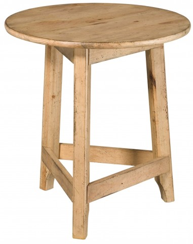 Homecoming Vintage Pine Round Accent Table