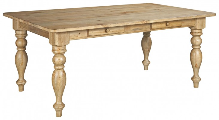 Homecoming Vintage Pine Farmhouse Leg Dining Table