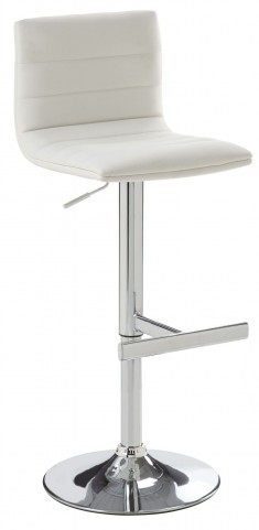 Motivo White Adjustable Barstool
