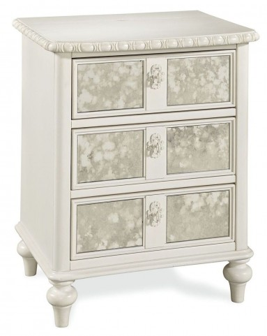 Bellamy Smartstuff Daisy White 3 Drawer Vintage Nightstand