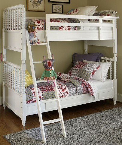 Bellamy Smartstuff Daisy White Twin Over Twin Bunk Bed
