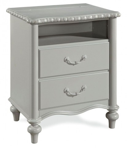 Bellamy Smartstuff French Gray 2 Drawer Nightstand