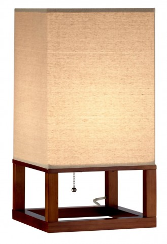 Crowley Light Walnut Table Lantern