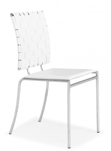Criss Cross Dining Chair White Set of 4