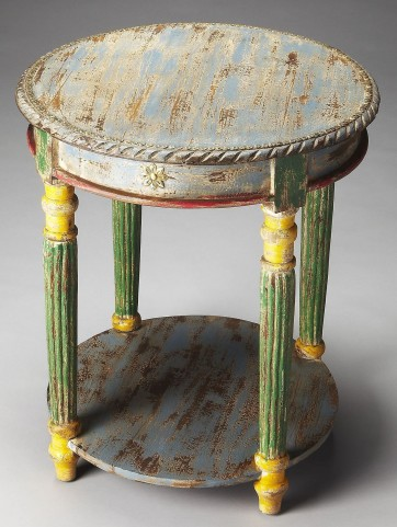 Nehru Artifacts Accent Table