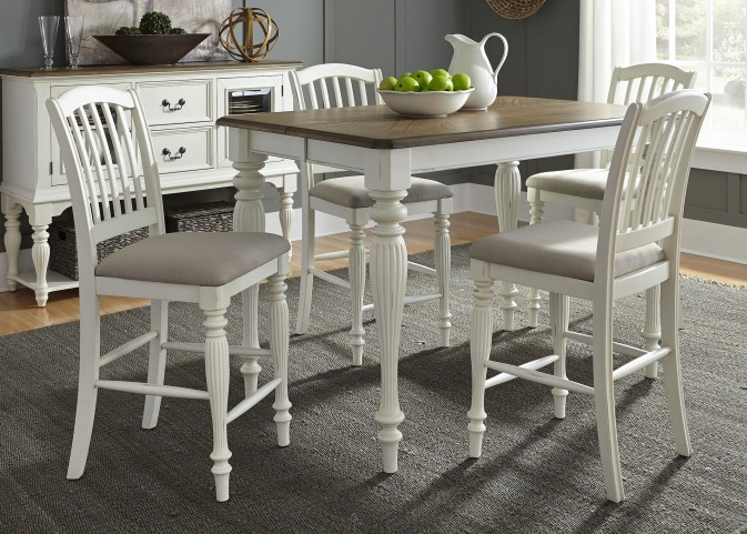Cumberland Creek Counter Height Extendable Gathering Dining Room Set