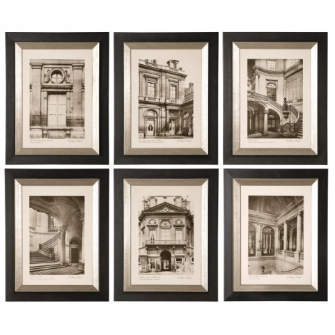 Paris Scene Framed Art Set of 6