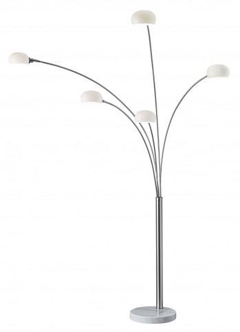 Luna Satin Steel Arc Lamp