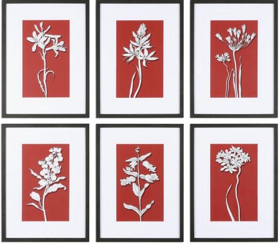 Ghost Floral Prints Set of 6