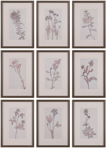 Spring Delights Floral Art Set of 9