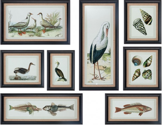 Seashore Collage Prints Set of 8