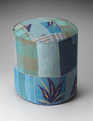 Indigo Artifacts Pouffe