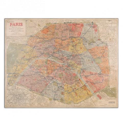 Paris Nouveau Plan Giclee Artwork
