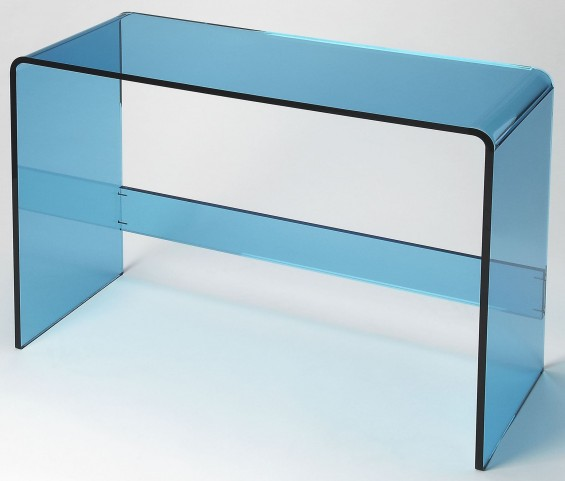 Crystal Blue Acrylic Console Table