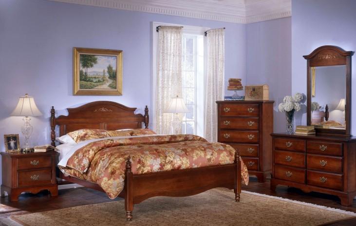 Carolina Classic Cherry Panel Bedroom Set