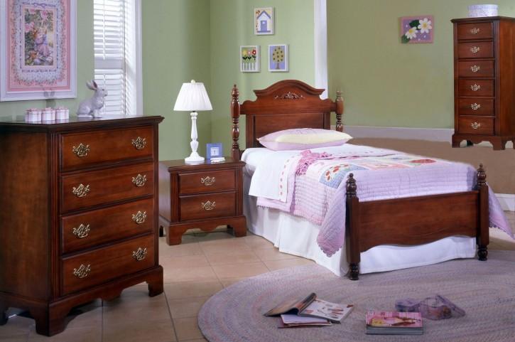 Carolina Classic Cherry Youth Panel Bedroom Set