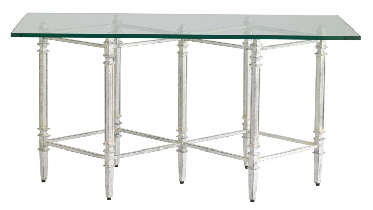 Preserve Salted Silver Leaf Gardiner Cocktail Table