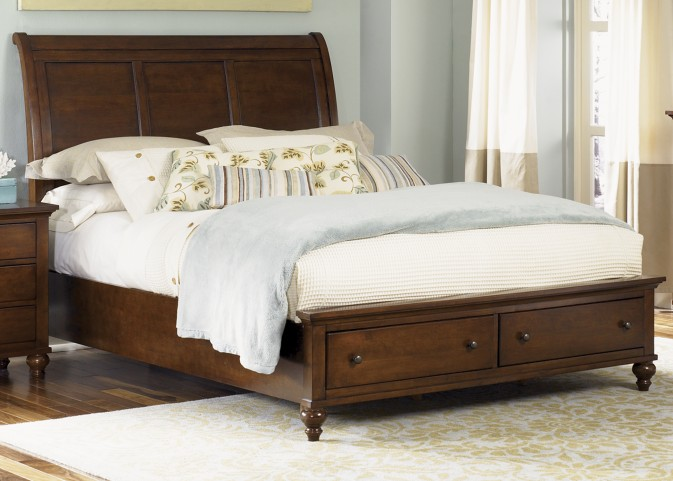 Hamilton Queen Sleigh Storage Bed