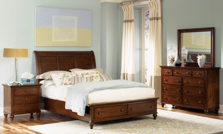 Hamilton Sleigh Storage Bedroom Set