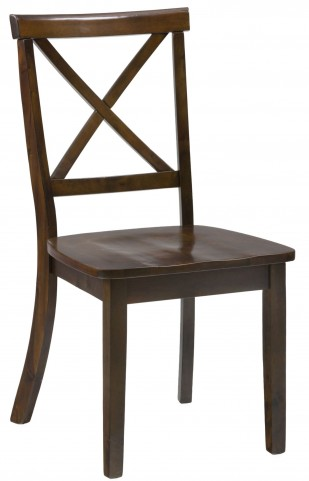 Taylor Cherry X Back Dining Chair Set of 2