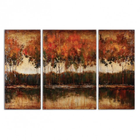 Trilakes Canvas Art Set of 3