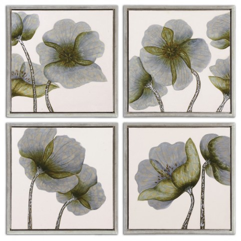 Mini Floral Glow Wall Art Set of 4