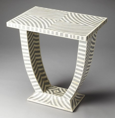 Lucinda Gray Bone Inlay Accent Table