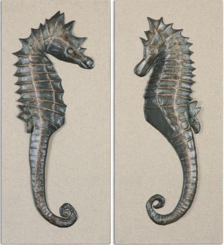 Seahorses Wall Art Set of 2