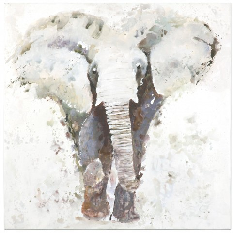 Curiosity Hand Painted Elephant Art
