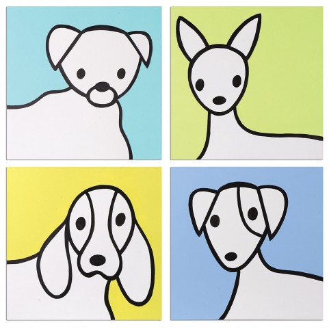 Bow Wow Modern Art Set of 4