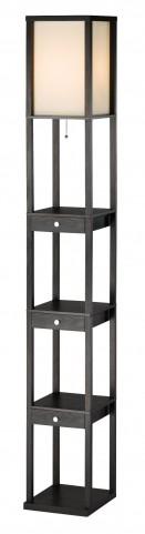 Murray Black Three Drawer Shelf Lamp
