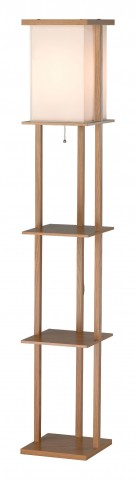 Barbery Oak Shelf Floor Lamp