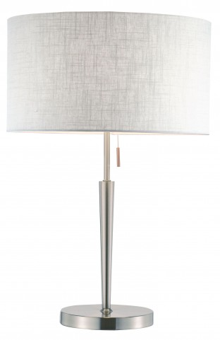 Hayworth Satin Steel Table Lamp