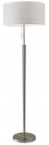 Hayworth Satin Steel Floor Lamp